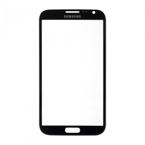 Vitre écran de façade noire + adhésif pour Samsung Galaxy Note 2 N7100 N7105