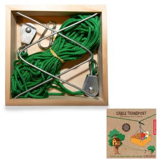 DIY-Box Seilbahn für Kinder selbst bauen