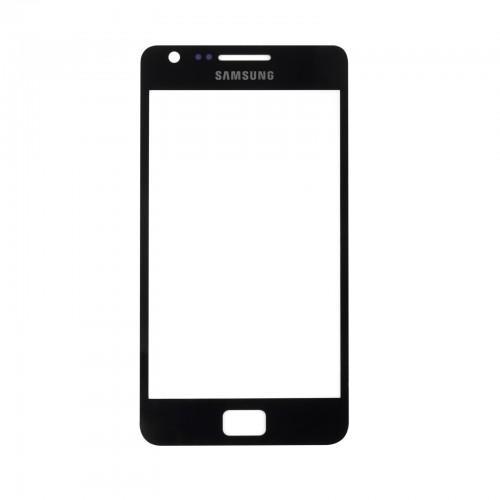 Vitre écran de façade noire + adhésif pour Samsung Galaxy S2 I9100