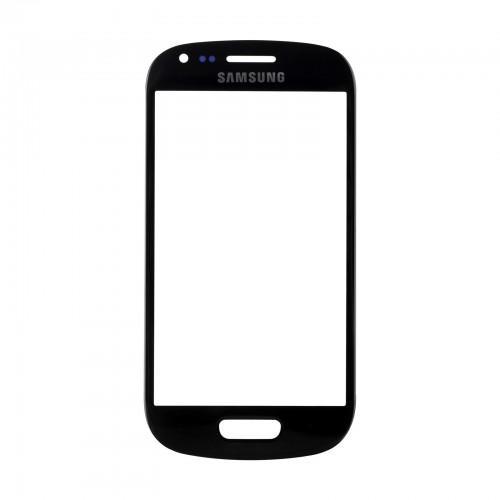 Vitre écran de façade noire + adhésif pour Samsung Galaxy S3 mini I8190
