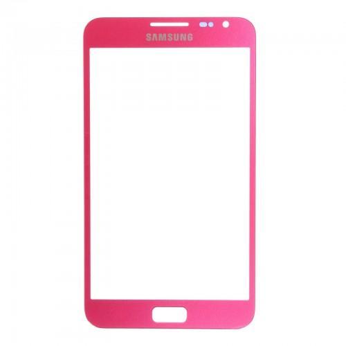 Vitre écran de façade rose + adhésif pour Samsung Galaxy Note N7000
