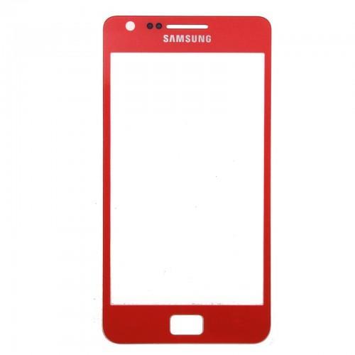 Pantalla + pegamento para Samsung Galaxy S2 I9100 - rojo