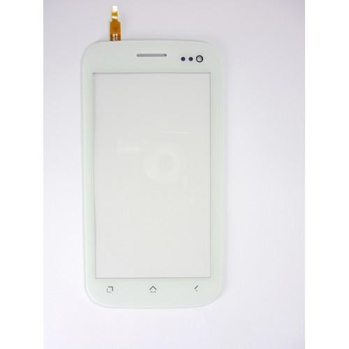 Vitre écran tactile blanc + adhésif pré-installé pour Wiko Cink King