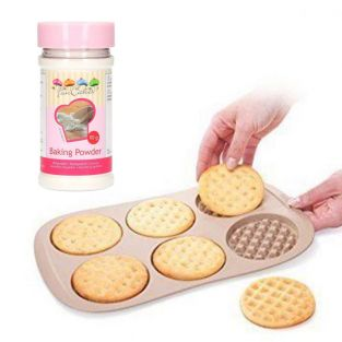 Silicone waffle mold Ø 9.5 cm +...