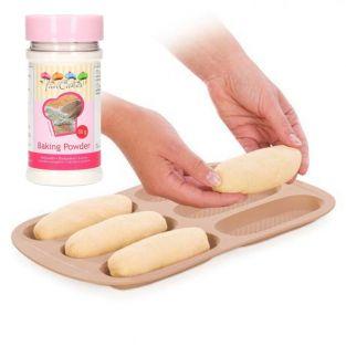 Moule petits pains en silicone 14 cm...