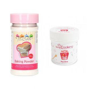 Pectin 50 g + baking powder 80 g