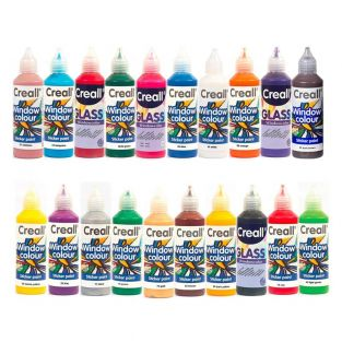 20 repositionable paints for windows...