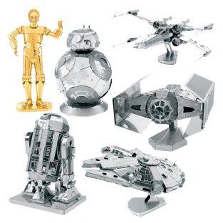 6 maquettes métalliques 3D Star Wars