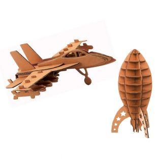2 modelos de cartón para montar -...