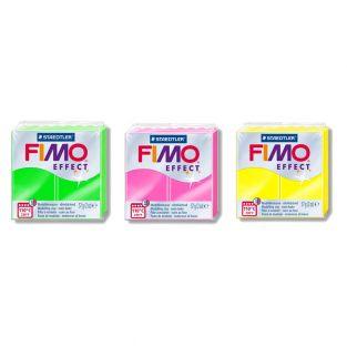 3 pâtes polymères effet néon -...