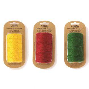 3 spools of jute thread 100 m x 2 mm...