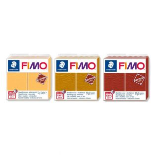 3 leather-effect polymer pastes -...