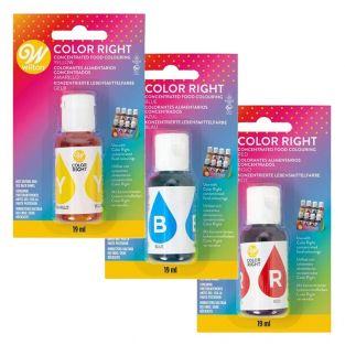 3 liquid food colorings 19 ml -...