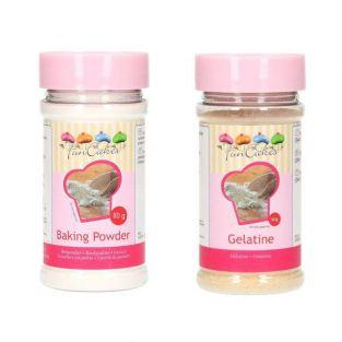 Gelatin powder 60 g + baking powder 80 g