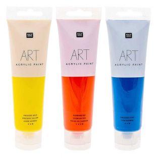 3 tubes de peinture acrylique 100 ml...