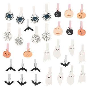 32 pinces à clip Halloween