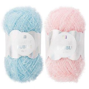 2 balls of DIY sponge yarn - light...