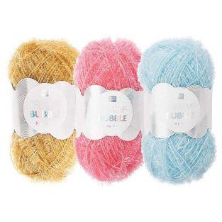 3 balls of DIY sponge yarn -...
