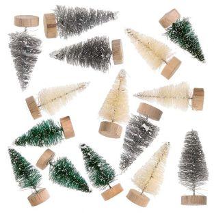 15 petits sapins de Noël décoratifs 5...