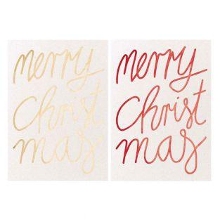 2 Frohe Weihnachten Postkarten