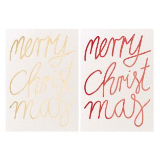 2 Merry Christmas postcards