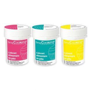 3 pasta colorante alimenticia 20 g -...
