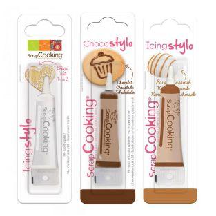 3 bolígrafos comestibles: chocolate,...