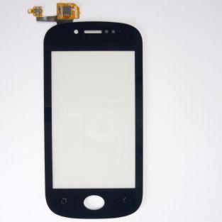 Vitre écran tactile noir + adhésif pré-installé pour Wiko Sublim
