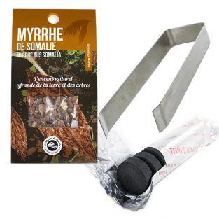 Somali Myrrh resin to burn + clamp...