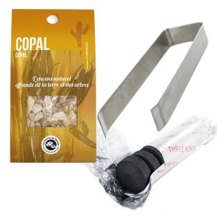 Copal resin to burn + clamp and...