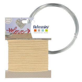 Vanilla knitting yarn 5 mm x 5 m +...