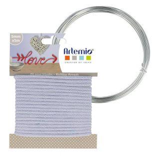 Fil à tricotin lilas 5 mm x 5 m + fil...