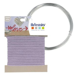 Fil à tricotin lavande 5 mm x 5 m +...