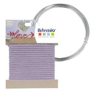 Lavender knitting yarn 5 mm x 5 m +...