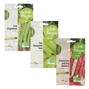 3 bustine di semi da seminare - legumi