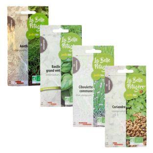 4 bolsitas de semillas para sembrar -...