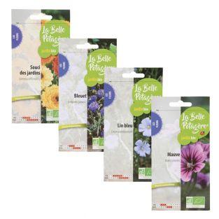 4 bustine di semi da seminare - fiori...