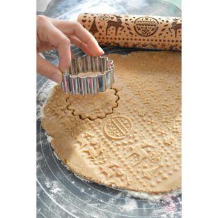 Rouleau à pâtisserie avec empreintes...