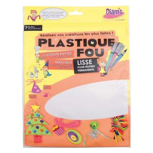 Set of 7 sheets Plastique fou Diam's...