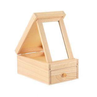 Tocador de madera con espejo 18 x 12...