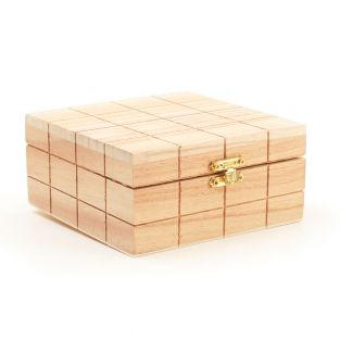Square wooden box with cubic effect...