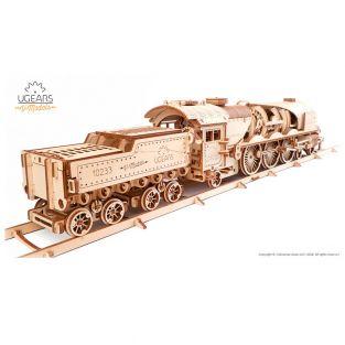 3D Wooden Model - Steam Train