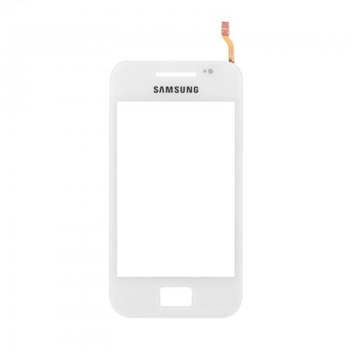 Vitre tactile + adhésif pré-installé blanc pour Samsung Galaxy Ace S5830