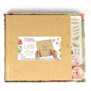 Libro de visitas de boda con caja de...