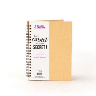 Kraft spiral notebook with white...