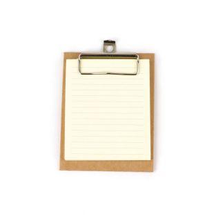 Mini kraft clipboard 13 x 10 cm