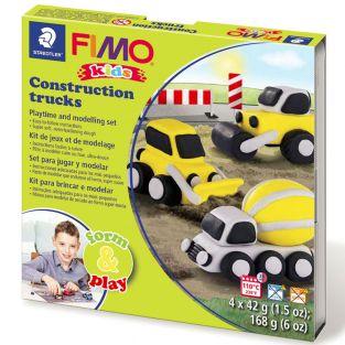 Caja de FIMO - camión y patio
