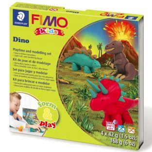 Caja de FIMO - dinosaurio