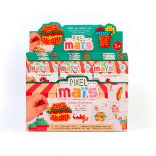 Junk food magnets in pixel corn - DIY...