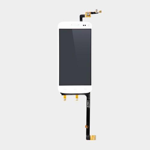 Vitre tactile + écran LCD assemblés blanc pour Wiko Darkmoon
